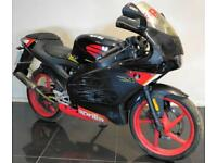 2005 05 APRILIA RS 50 BLACK 2 STROKE MOPED LEARNER LEGAL BIKE PROJECT TRADE SALE