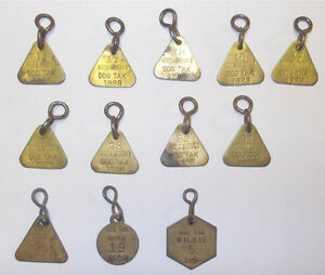 ANTIQUE DOG TAGS. NEVER USED. 1928-1954 Strathcona County Edmonton Area image 1