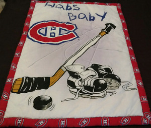 Montreal Canadians fitted crib sheet, comforter and bumper pads