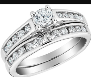 Diamond Engagement Ring and Band 1/2 carat (ctw)