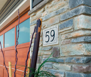 Stone House Numbers