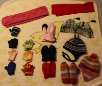 winter accessories hats, mitts, gloves size 3-6