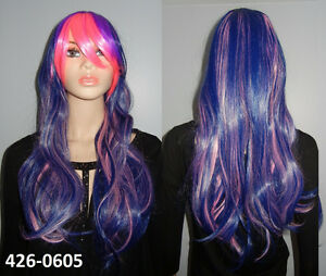 SALE NEW: Pink-Blue-Purple Mixed Color Cosplay Wig (426-0605)