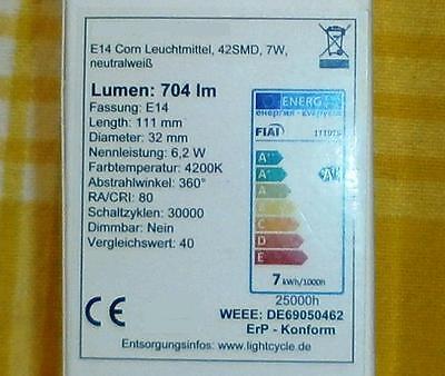 Info auf der Verpackung