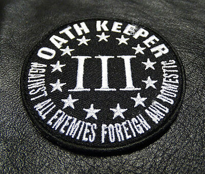 OATH KEEPER 3 PERCENTER  AGAINST ALL ENEMY  MORALE HOOK PATCH by miltacusa](Oath Keeper)