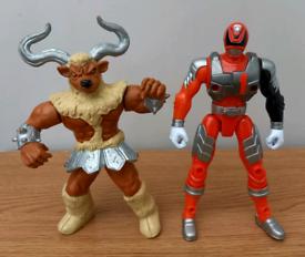 Power Rangers Minotaur and ranger