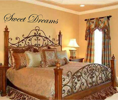 Sweet Dreams 15 x 50 Vinyl Wall  Art Decal Sticky Decor Letters Decorating](Sweet 15 Decorations)