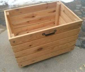 Large rolling Ikea wooden box