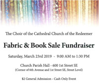 Fabric & Book Sale Fundraiser