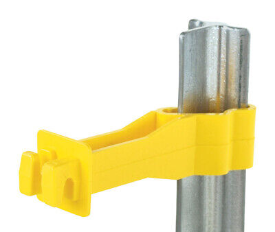 Fi-shock Electric Electric Fence Insulator T-post Reverse 25 Pk Yellow