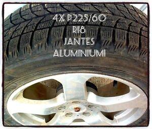 4x P225/60 R18 avec Jantes en Alum!