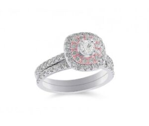 WHITE AND ROSE GOLD 1.00CTW DIAMOND BRIDAL SET