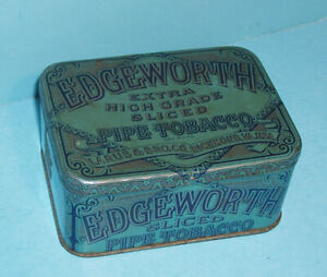 VINTAGE EDGEWORTH SLICED PIPE TOBACCO, TIN BOX
