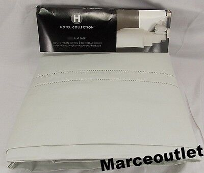 Hotel Collection 800 Thread Count 100% Egyptian Cotton QUEEN Flat Sheet Seacrest