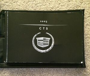 2003 Cadillac CTS Owners Manual Set