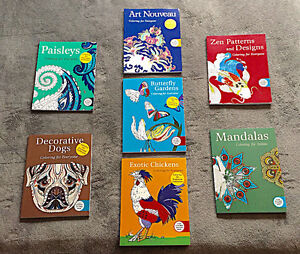Adult Colouring Books Collection - Brand New