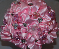Deluxe Silk Satin Artificial Flower Wedding Bouquets by Debobell