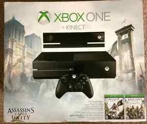 Brand New Xbox One 500gb + Kinect Assasins Creed Bundle