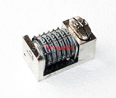 316 Roman Font Letterpress Numbering Machine 6 Digit Forwards Heidelberg Kluge