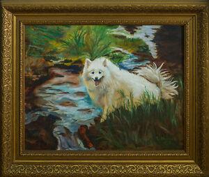 Original L. Hadley Painting – Dear Poly Dog
