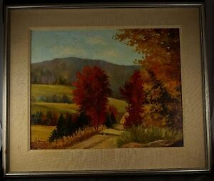 FRAMED Oil on Board Autumn in Quebec St. Sauver by SYDNEY BERNE