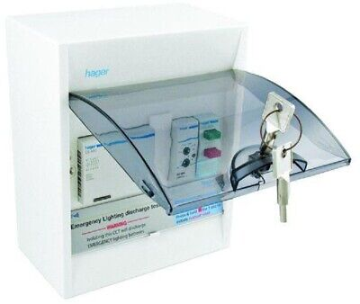 Hager EMERGENCY LIGHTING DISCHARGE TEST KIT 40A 6-Poles Wired, Surface Mount