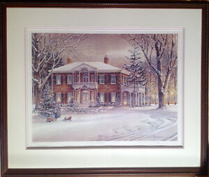 White Christmas Print by Trish Romance-reduced