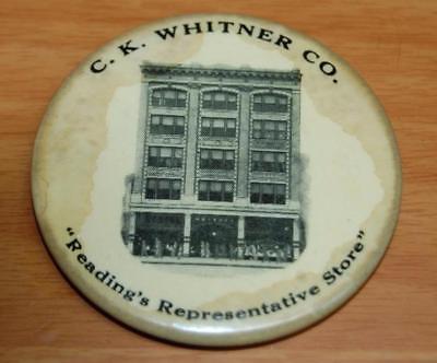 ANTIQUE C.K. WHITNER CO. DEPARTMENT STORE READING PENN CELLULOID POCKET MIRROR
