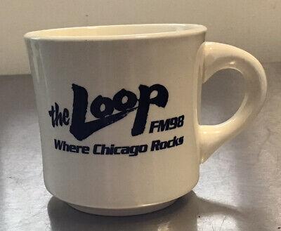 """""""the LOOP FM98"""" Steve Dahl & Co. Breakfast Club coffee cup"""