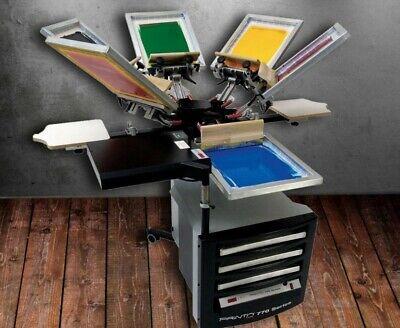 Printa 770 Series Deluxe Screen Printing System Six Color Four Station Bonus