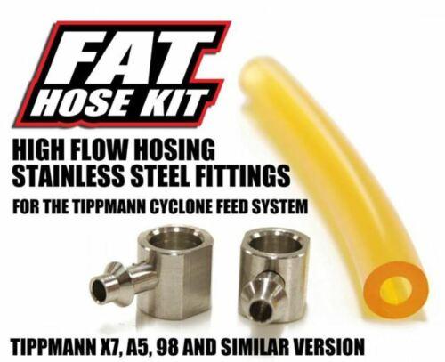 TechT Fat Hose Kit Yellow For Tippmann A5/X7 Paintball Gun marker A-5 X-7 98 NEW
