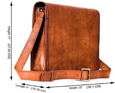 Men's Handmade Vintage Leather Satchel Laptop Briefcase Messenger Shoulder Bag