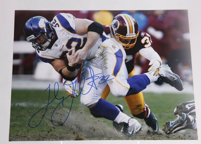 Toby Gerhart *MINNESOTA VIKINGS* Signed 11x14 Photo COA GFA