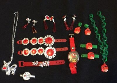 3 Headed Dog Costume (GIRLS COSTUME JEWELRY 3 Sets RED SILVER DOGS RED HEAD CARTOON GIRL MERRY)