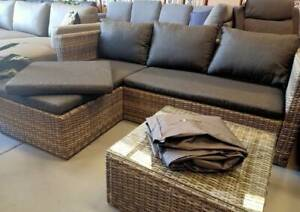 MOTHERS DAY SPECIAL! Outdoor Chaise Sofa and Table/Ottoman