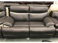 High retail two tone leather 2 seater with matching armchair