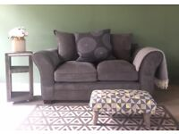 NEW Furniture Village Grey 2 Seater Sofa, Can Deliver
