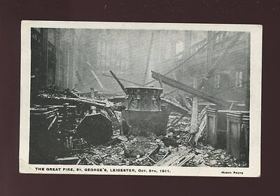 Leicestershire LEICESTER after The Great Fire St George's 1911 PPC Mason Photo