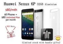 New Huawei Nexus 6P 32GB Aluminium with Original Genuine Case Auburn Auburn Area Preview
