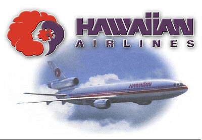Hawaiian Airlines Logo Fridge Magnet 3 25 X2 25  Collectibles  Lm14037