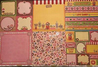 Best Creation Candy Shop 12X12 Glitter 12pc Cardstock Scrapbook Kids Crafts SALE](Bulk Candy Sales)