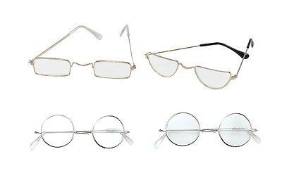Alter Mann / Damen # Halbmond Rund Brillen Kostüm Outfit - Alter Mann Brille Kostüm
