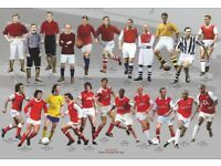 Arsenal Legends Photograph Montage 297 x 420 mm