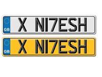 * * * * Asian number plate NITESH or NILESH personalised resigration number plate * * * *