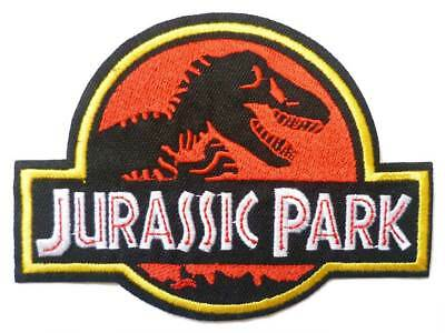 JURASSIC PARK Iron Sew On Patch Badge Transfer Fancy Dress Costume Halloween - Jurassic Park Halloween Costumes