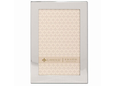 4x6 Matte Silver Frame (Lawrence 4x6 Flat Silver Metal Engravable Picture Frame (Same Shipping Any Qty) )