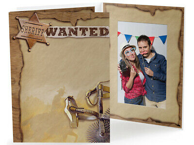 Western Themed Events (Western Theme 4x6 Vertical Event Photo Folders 25 Pack (Same Shipping Any)