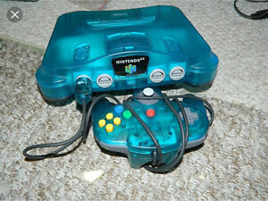 Ice blue nintendo 64 wanted ad