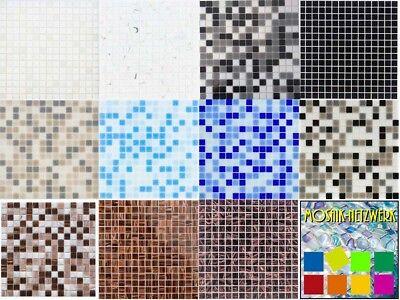 Glasmosaik Fliesen weiss grau schwarz blau beige braun kupfer BAD WC - Napoli Boden Fliesen