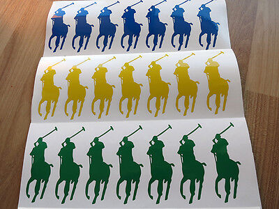 Set 10-4.0'' Polo Stickers ,Party decoration, Baby shower,Polo party